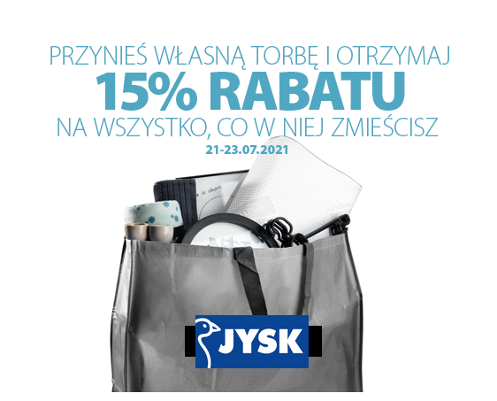 Nowa gazetka JYSK+15% rabatu